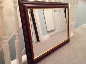 Large bevelled mirror in excellent condition. 36 inches wide x 26 inches high.