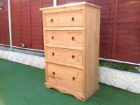 Pine chest of TALL drawers