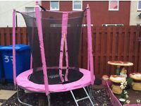 7ft pink trampoline