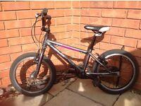 "Islabikes Cnoc 16 grey/purple 16"" wheel starter bike age 4+ GREAT CONDITION"