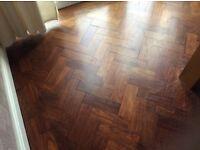 Parquet Mahogany block flooring