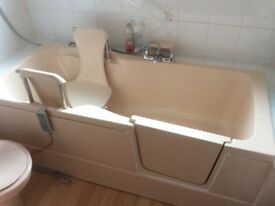 Nationwide Aquability Right hand walk in bath with powered seat