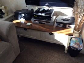 Modern Coffee Table with Drawers / TV - DVD Stand.