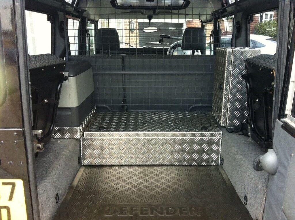 Land Rover Defender / Series Aluminium Storage System / Boxes plus Waeco Compressor Fridge