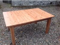 IKEA SOLID WOOD DINING TABLE FOR SALE,GOOD SOLID CONDITION ,ALREADY LEGS DISASSEMBLED £50. Ono