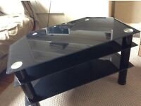 Black TV stand 32 inch