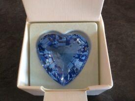 Swarovski crystal Blue SCS Heart Paperweight