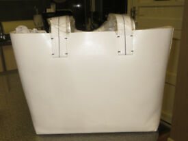 French Connection White Leather Tote Bag - new with tags