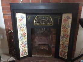 A beautiful Victorian tiled fireplace, in excellent condition.