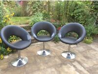 Dwell Retro swivel Black dining chair - THREE available £10 each