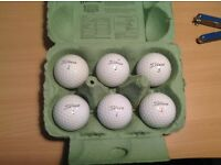 6 good condition titleist pro V1 golf balls, Second Hand
