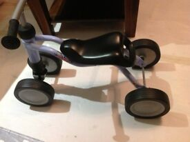Kids first bike - excellent Christmas present - Puky woosh - blue - as good as new - trike (4-wheel)