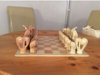 Large & Stunning hand polished Soapstone Chess Set - from Africa