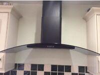 Black with smoked glass cooker hood CDA