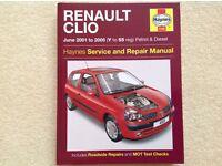 Haynes Manual Renault Clio June 2001-2005 (Y-55 reg)