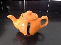 Orange teapot Price and Kensington new with label 2 cup - never used excellent condition