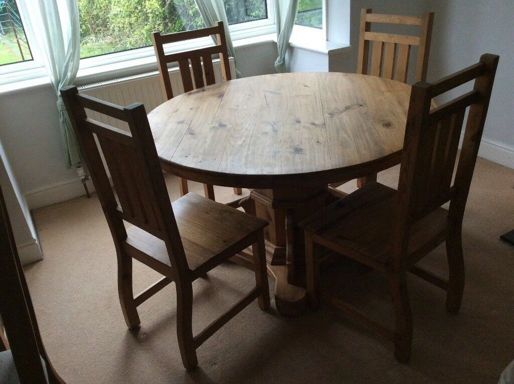 Pine Round Table And Chairs For Kitchen Round Designs - Solid pine round dining table