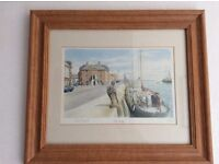 Limited edition signed print of Poole Quay