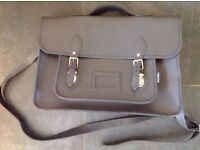 Brand New Zatchels Brand on trend Leather Satchel Flint Grey