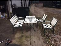 Cast iron garden patio set