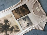 Original ALL SAINT'S Long Womens T-Shirt, Size 14, Distressed Look