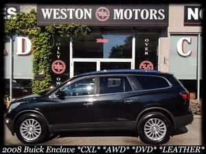2008 Buick Enclave CXL* AWD* LEATHER*  DUAL SUNROOF* DVD