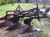 Vintage ploughs x 2