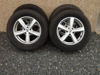 """17 """" Alloys with Winter Tyres"""