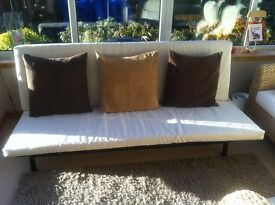Ikea Sofa Bed With Cream Seating - Brand New - Still In Box
