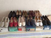 Variety of Vintage Ladies Shoes