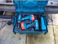 Drill&screwdriver set in box