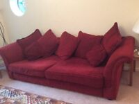 DFS LARGE FOUR SEATER SOFA.
