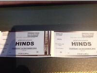 Hinds tickets x2 Trinity Centre Bristol 1st Dec