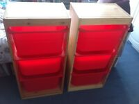 Ikea Trofast Storage units with boxes-item now SOLD