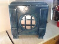 Wood burning stove, chappee 8007 in blue enamel