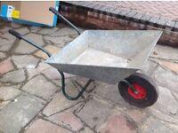 Galvanised Steel Wheelbarrow
