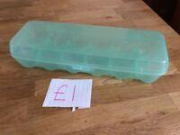 Green Plastic Egg Holder (Holds 12 Eggs)