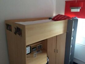 High sleeper single bed - great condition