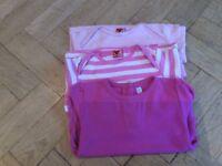 3 girls pink tops