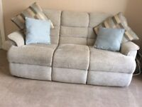3and2 seater sofa plus pouffe