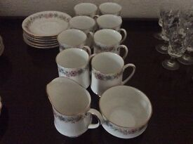 BONE CHINA COFFEE CUP SET