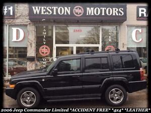 2006 Jeep Commander LIMITIED*ACCIDENT FREE *4X4 *LEATHER *SUNROO