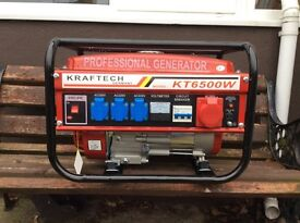 Kraftech Germany 6.5 petrol generator. Model KT 6500W
