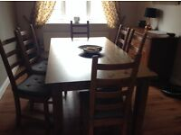 Large ikea pine dining table