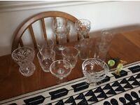 Vintage glassware - mixed job lot