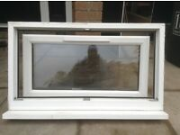 White upvc window and frame in excellent condition