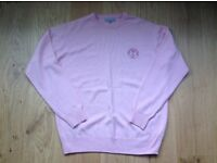 Genuine Lyle & Scott Pale Pink Pure Wool Jumper - Size = Large