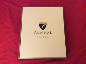 Aspinal of London make up bag dark green for lar mar brand new in original box