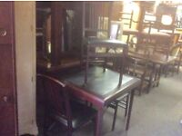 Reduced ...folding table &3 folding chairs