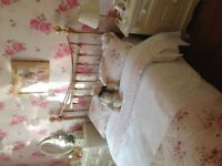 Victorian pure brass double bed